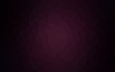 Dark purple polygonal design pattern, which consist of triangles and gradient in origami style.