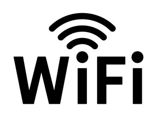Wifi wireless internet network signal flat icon for apps