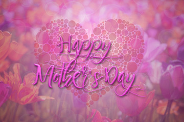 Happy Mothers Day Floral Background