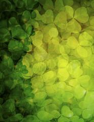 Shamrock Leaves Background Illustration