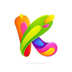 K letter colorful logo.