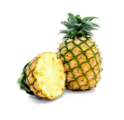 Isolated Pineapples .