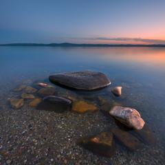 Lake at dusk, long exposure