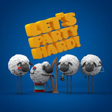 Sheeps party hard