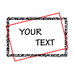 Grunge borders with place for your text.