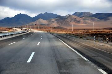 Fernstraße in der Provinz Isfahan