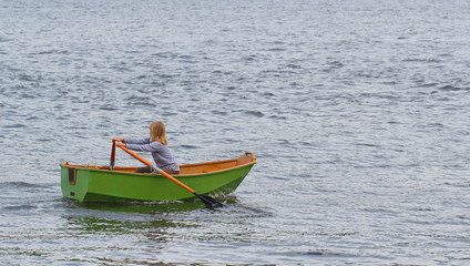 Girl in a boat