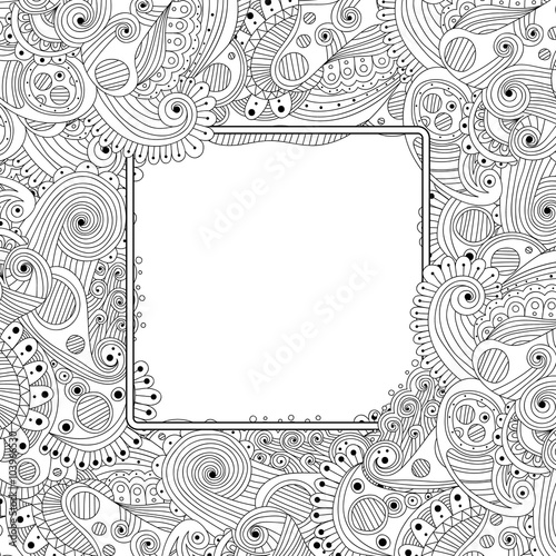 Quot Abstract Hand Drawn Zentangle Style Frame Doodle Art