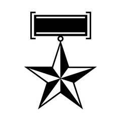 Star second world war medal icon, simple style
