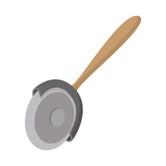 Pizza cutter icon, cartoon style