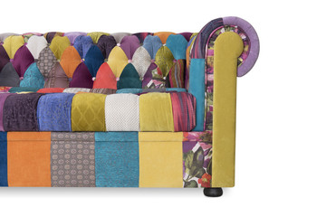 Sofa Chesterfield with style a patchwork Fototapete