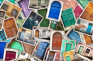 fotografie vintage portoni collage