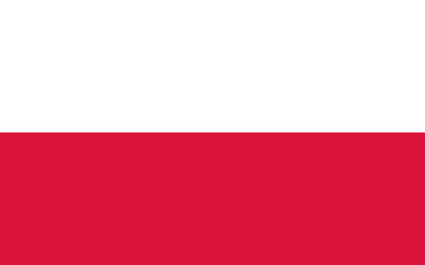 Vector of Polish flag. Wall mural