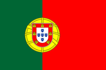 Vector of Portuguese flag.