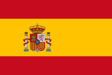 Vector of Spanish flag. Wall mural