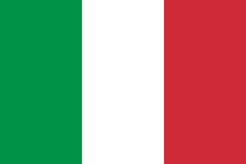 Vector of Italian flag. Fotomurales