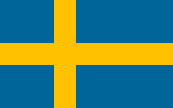 Vector of Swedish flag.