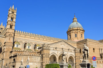 Foto op Canvas Palermo The Cathedral of Palermo