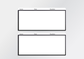 Film storyboard template x2