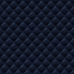 Quilted simple seamless pattern. Black color.