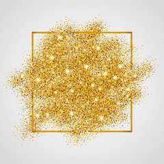 Gold glitter background sparkles