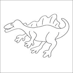 Image of a spinosaurus to color.