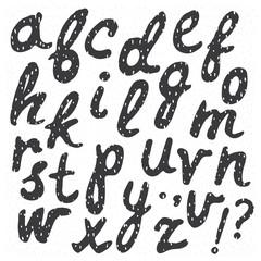 Hand drawn trendy calligraphic font