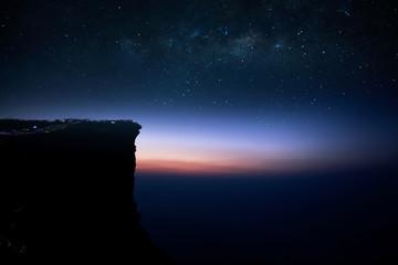 Phu Chi Fa with Milky way