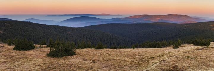 Autumn morning in Jeseniky mountains, Praded, Czech Republic