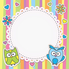 frame with owls