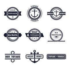Set of marine labels