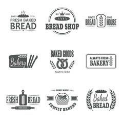 Set of bakery vector emblem