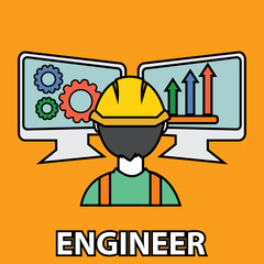 Engineer construction manufacturing worker