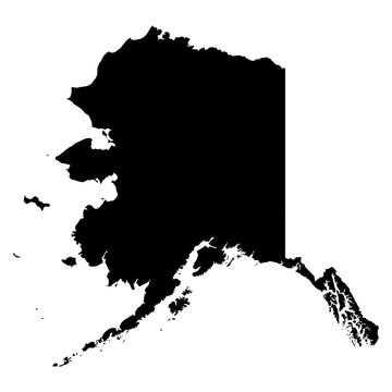Alaska map on white background vector