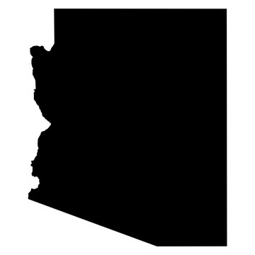 Arizona map on white background vector