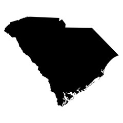 South Carolina map on white background vector