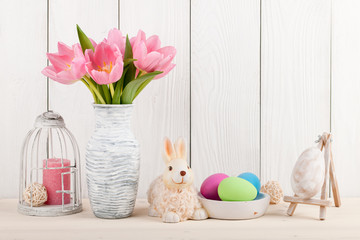 Easter decorations with tulips