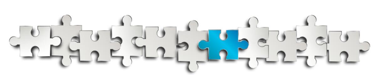 banner band reihe Symbol puzzle blau