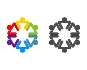 Colorful Teamwork Logo 3