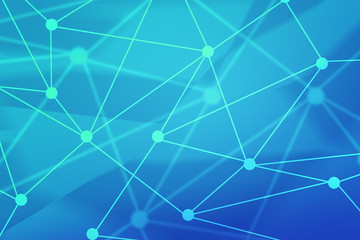 Blue Network Technology Backdrop