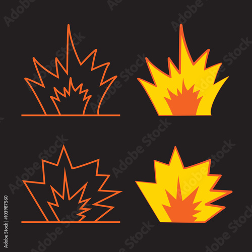 Cartoon explosion effect with smoke  Effect boom, explode flash