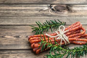 Smoked kabanos sausage - traditional thin sausage