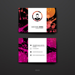 Set of Design Business Card Template in DNA molecule style