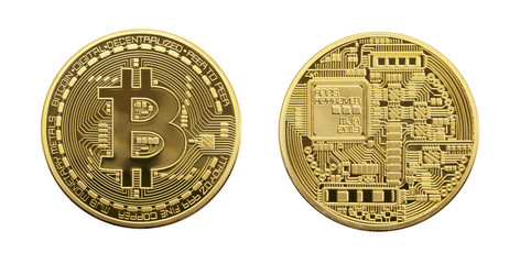 Golden Bitcoin.