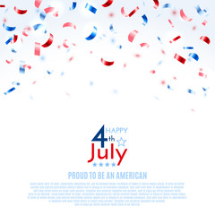 4th of July, American Independence Day background. Vector illustration, eps10.