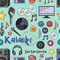 Theme of karaoke pattern