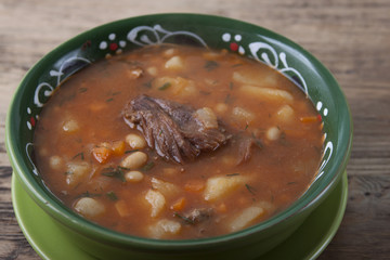 Bean soup with meat