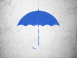 Privacy concept: Umbrella on wall background