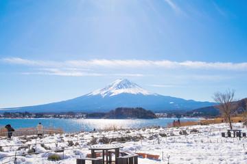 Fuji mountain from Kawaguchiko lake