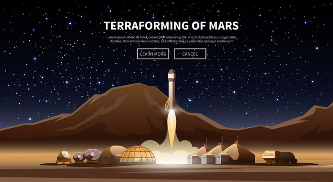 The first colonies. Terraforming of mars.